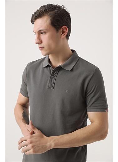 Damat Damat Vizon 60/2 Merserize T-Shirt Antrasit